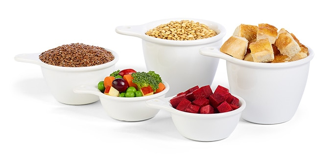Some of the high quality ingredients used in Hill's pet foods.