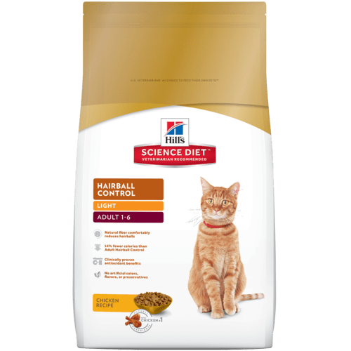 Precisely balanced nutrition to help reduce hairball formation for cats who need a lighter, healthier lifestyle